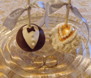 Cara Membuat Cake Pops Wedding loli Cantik , Yang Sangat Manis Dan Lembut