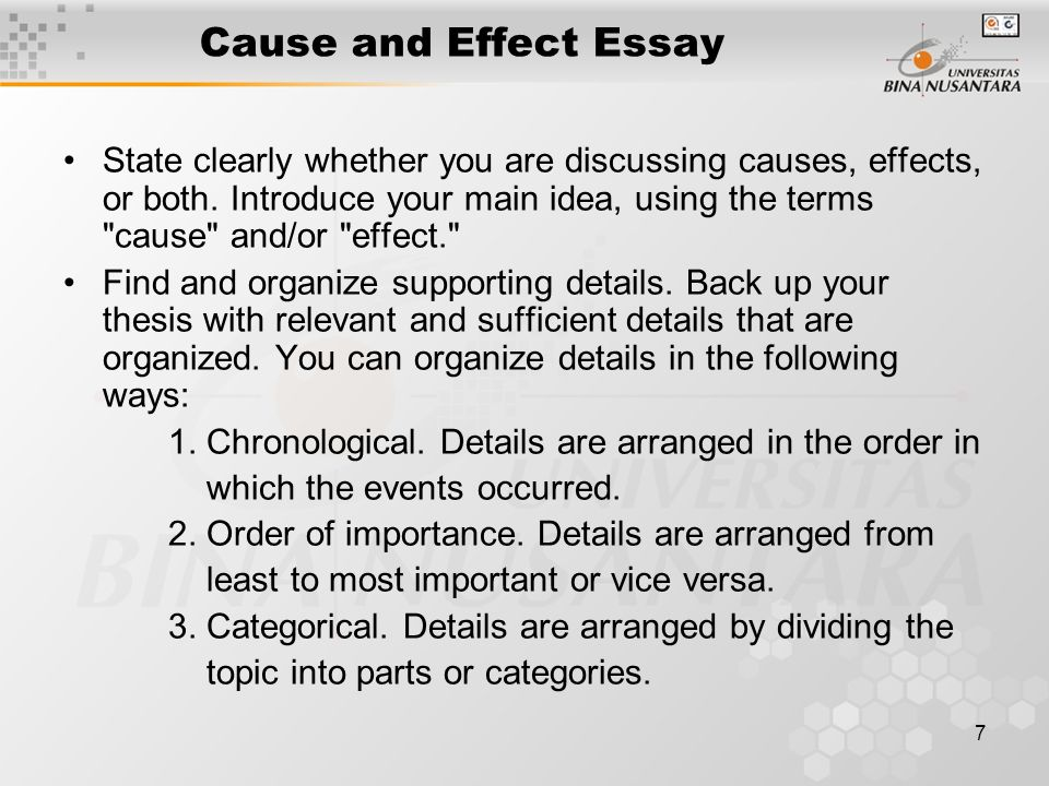 cause and effect bullying essay conclusion Cause and effect essay on bullying in recent decades, one thought of bullying on the college or university level as a form of hazing carried out by upper-classmen on freshmen many schools turned a blind eye on the practice, and freshmen simply endured the hazing as a ritual, expecting it to last only for the first year of college.