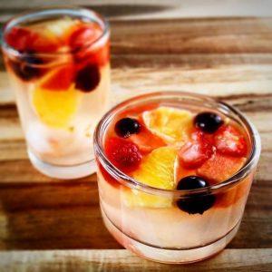 Membuat Minuman Jeruk Konyaku Jelly Segar